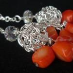 Orecchini_argento_pendenti_arancione_4