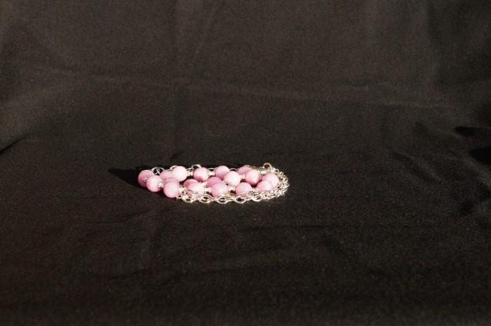 Collana agata rosa 2