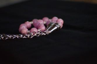 Collana agata rosa 3