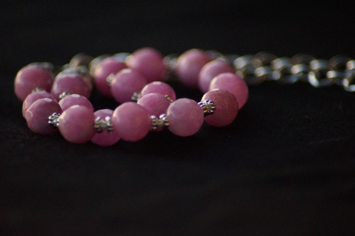 Collana agata rosa 4