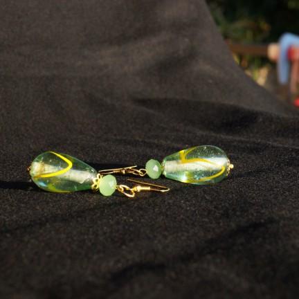 Orecchini verde goccia 1