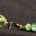 Orecchini verde goccia 2