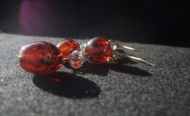 Orecchini_arancione_pois_neri_5