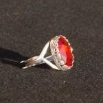 Anello swarovski ovale rosso 1