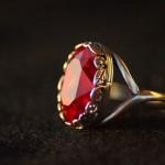Anello swarovski ovale rosso 3
