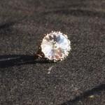 Anello swarovski rotondo cristallo 1