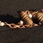 Collana bronzo sfere metallo 2