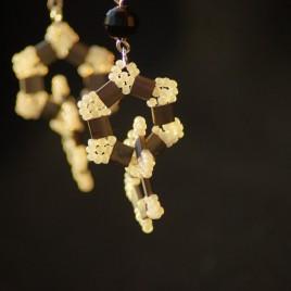 Orecchini perle e tila grigio 4