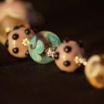 braccialetto lampwork rosa violetto 3