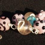 braccialetto lampwork rosa violetto 4