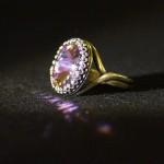 Anello anticato rivoli rosa 1