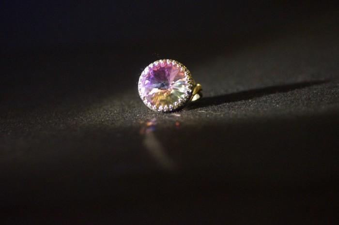 Anello anticato rivoli rosa 2
