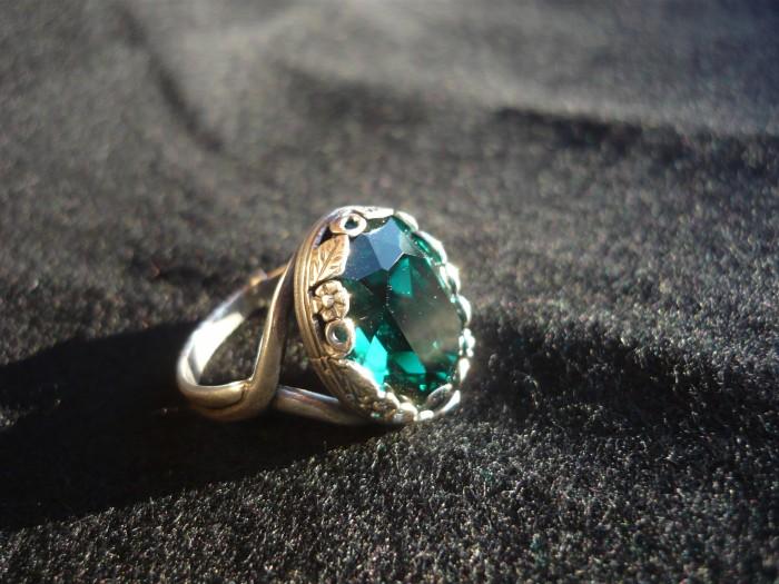anello smeraldo swarovki 4