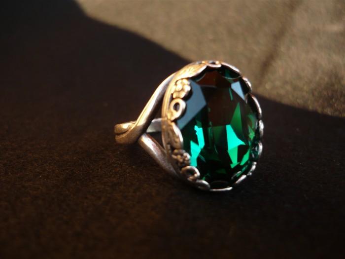 anello swarovski smeraldo 3