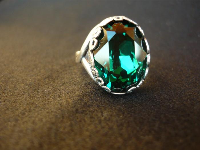 anello swarovski smeraldo 2