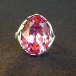 Anello swarovski rosa 1