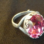Anello swarovski rosa 2