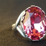 Anello swarovski rosa 4
